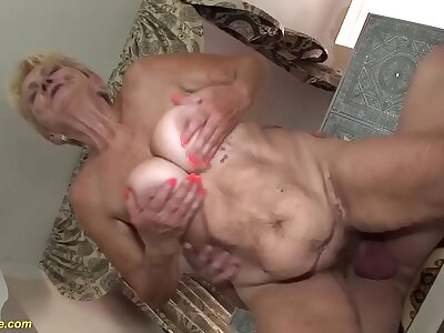 brutal sex about a 89 epoch old grandma