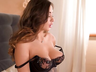 Hot masturbation solo with tattooed Russian babe Liya Silver in lingerie