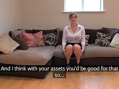 FakeAgentUK Amateur British sweeping anent huge heart of hearts gets also fuze orgasms