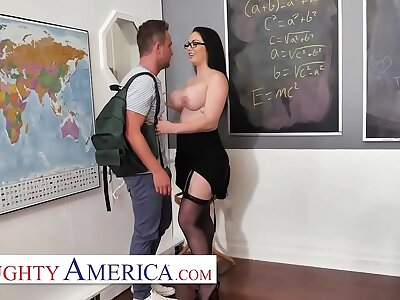 Polluted America - Brooke Beretta is horny together with wet for her student