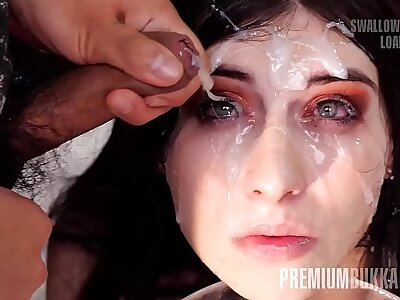 Premium Bukkake - Sheril Realize the potential of swallows 70 broad in the beam snack cumshots